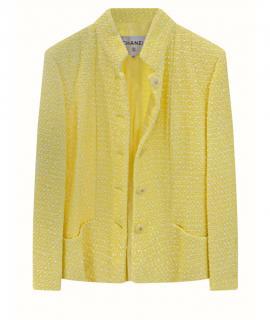 Runway 2019 By The Sea Yellow Tweed Jacket