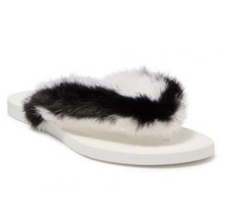 Valentino Genuine Mink Fur Sandals