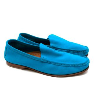 Atika Soft Suede Bright Blue Loafers