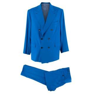 Donato Liguori Blue Tailored Double Breasted Suit