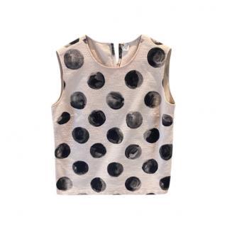 Dolce & Gabbana Polka Dot Sleeveless Top