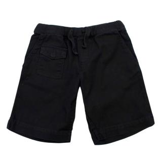 Bonpoint Kids 4Y Black Cotton Shorts