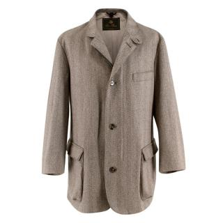 Loro Piana Herringbone-Tweed Outdoor  Storm system Jacket