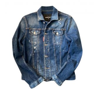DSqaured2 Distressed Stretch Denim Jacket