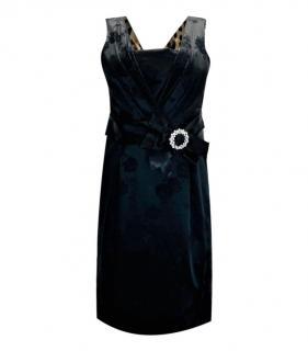 Dolce & Gabbana Embellished Black Jacquard Dress