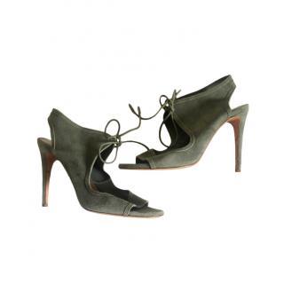 Aquazzura Suede Cut-Out Sandals