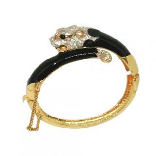 Panetta Vintage Crystal Panther Bracelet
