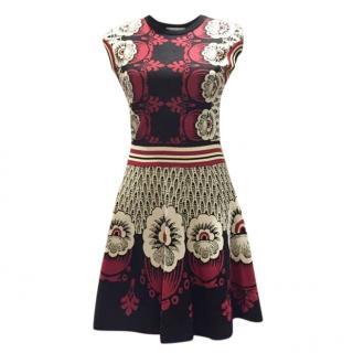 Valentino Multifloored Printed A-Line Dress
