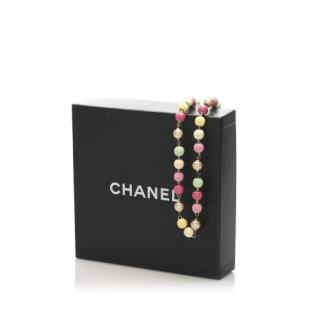 Chanel Multicoloured Faux Pearl Necklace