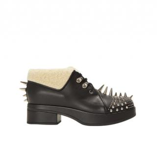 Gucci Leather Victor Boots with Spikes and Studs