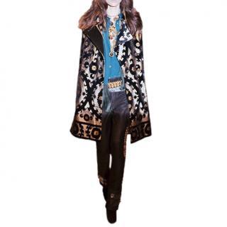 Gucci Runway Baroque Jacquard Cape Coat