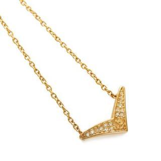 Dior Crystal Embellished Arrow Necklace