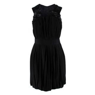 Robert Rodriguez Black Embellished Cocktail Dress