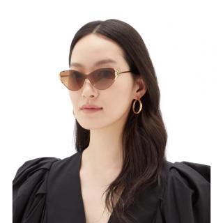 Chloe Curtis rimless cat-eye metal sunglasses
