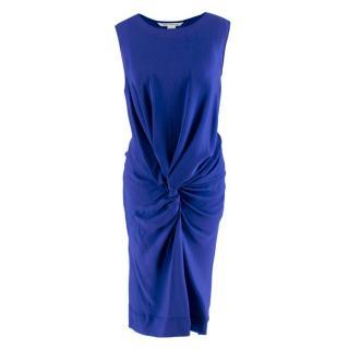 Diane von Furstenberg Cobalt with Twisted Knot Silk Dress
