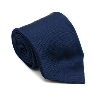 E. Marinella Blue Silk Tie