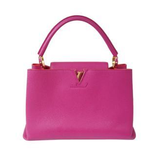 Louis Vuitton Fuchsia Capucines MM Tote Bag