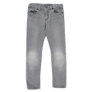 Bonpoint Grey Cotton Denim Jeans
