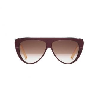 Chloe Flinn aviator sunglasses for women in acetate
