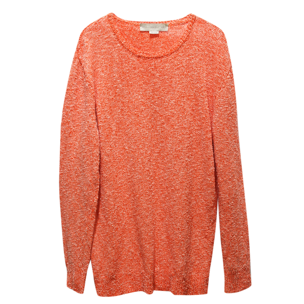 Stella McCartney Orange Knit Top