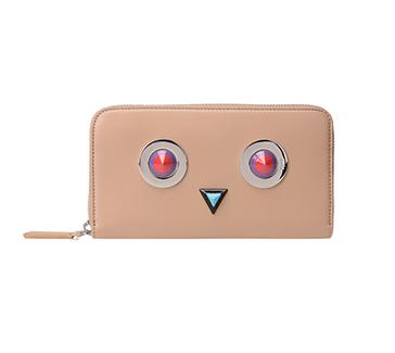 Fendi Natural Monster Zip-Around Wallet