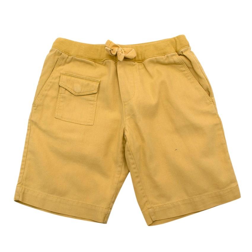 Bonpoint Yellow Cotton Kids 4Y Shorts