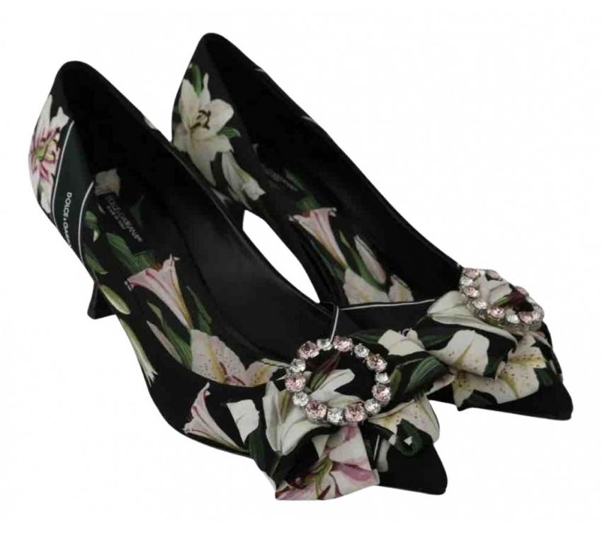 Dolce & Gabbana Lily Print Crystal Pumps