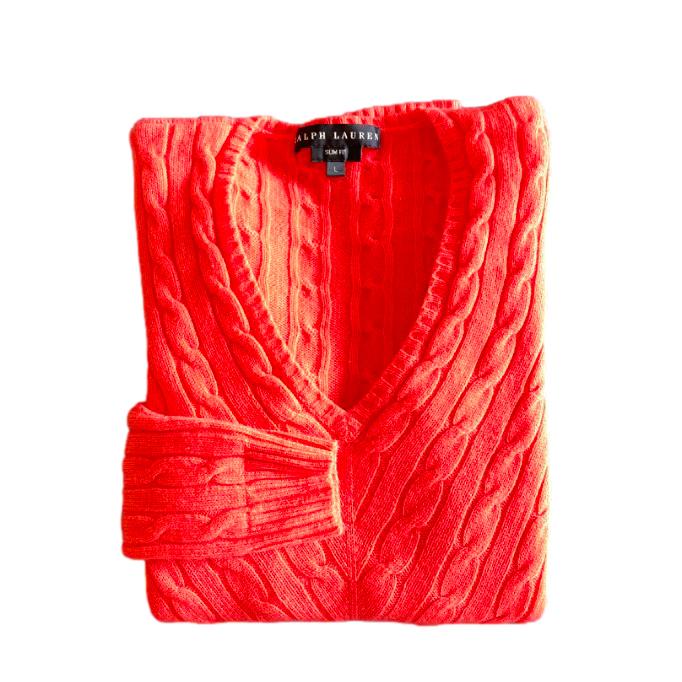 Ralph Lauren Black Label Coral Cashmere Jumper