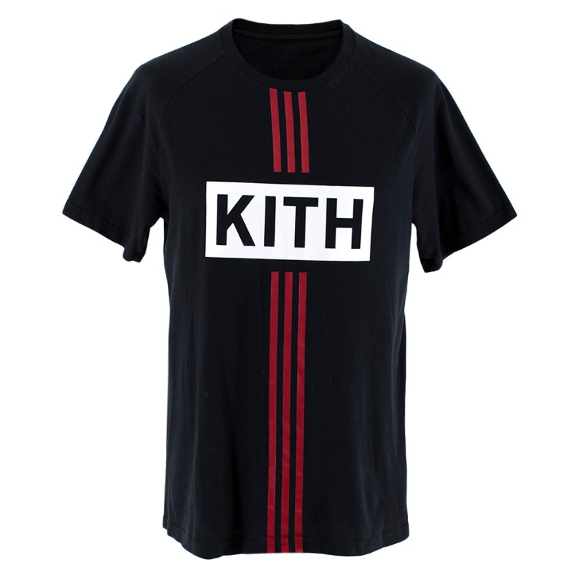Adidas x Kith Stripe Black Soccer Tee
