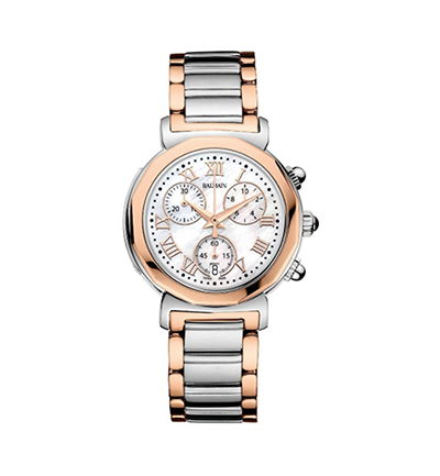 Balmain Silver and Rose-Gold Tone Chronograph Watch