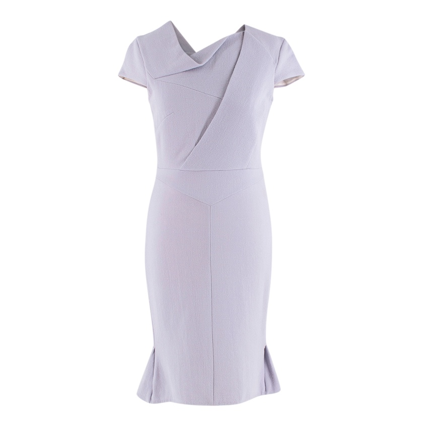 Roland Mouret Heather Grey Fitted Dress