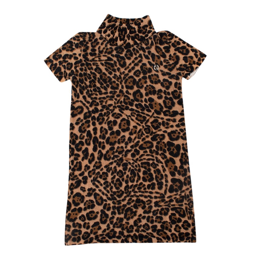 Gucci Kids 5Y Wool Leopard Print Dress