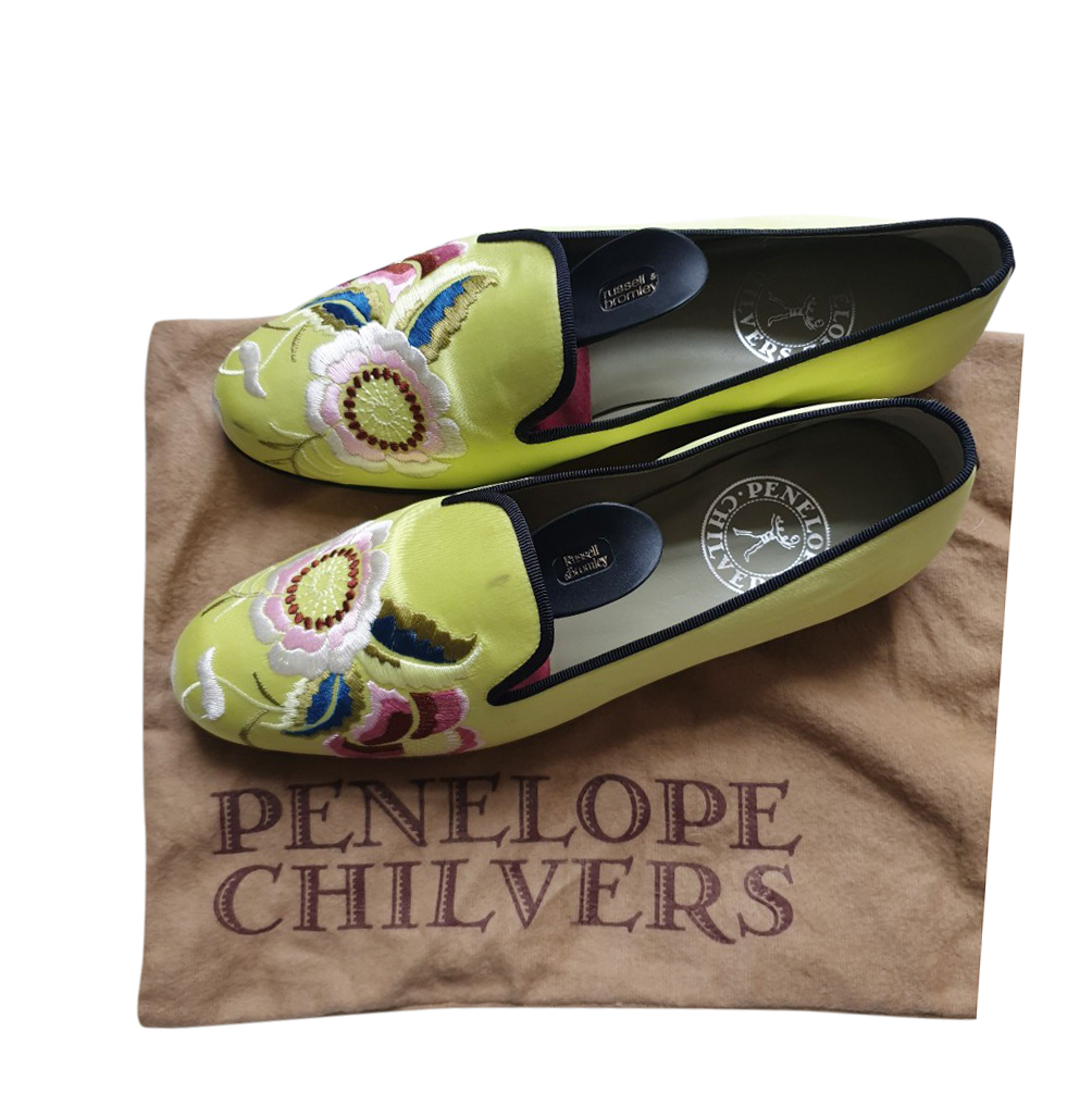 Penelope Chilvers Embroidered Dandy Slippers