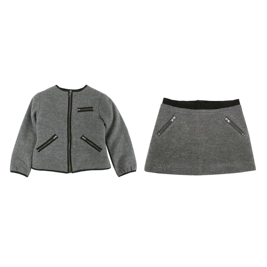 Bonpoint Grey Wool Kid's 6Y Skirt & Jacket