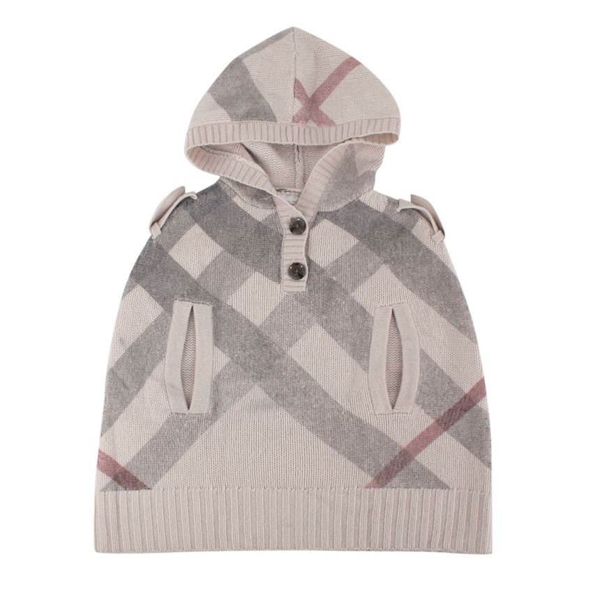 Burberry Kid's Hooded Check Poncho