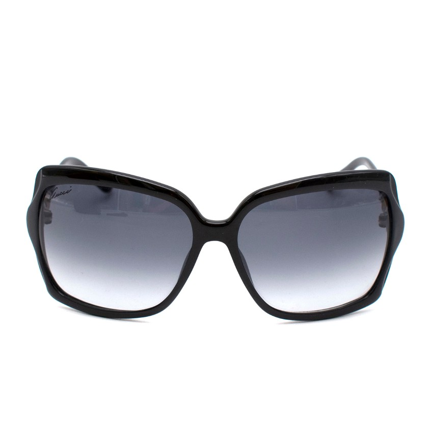 Gucci Black Bamboo Oversized Sunglasses