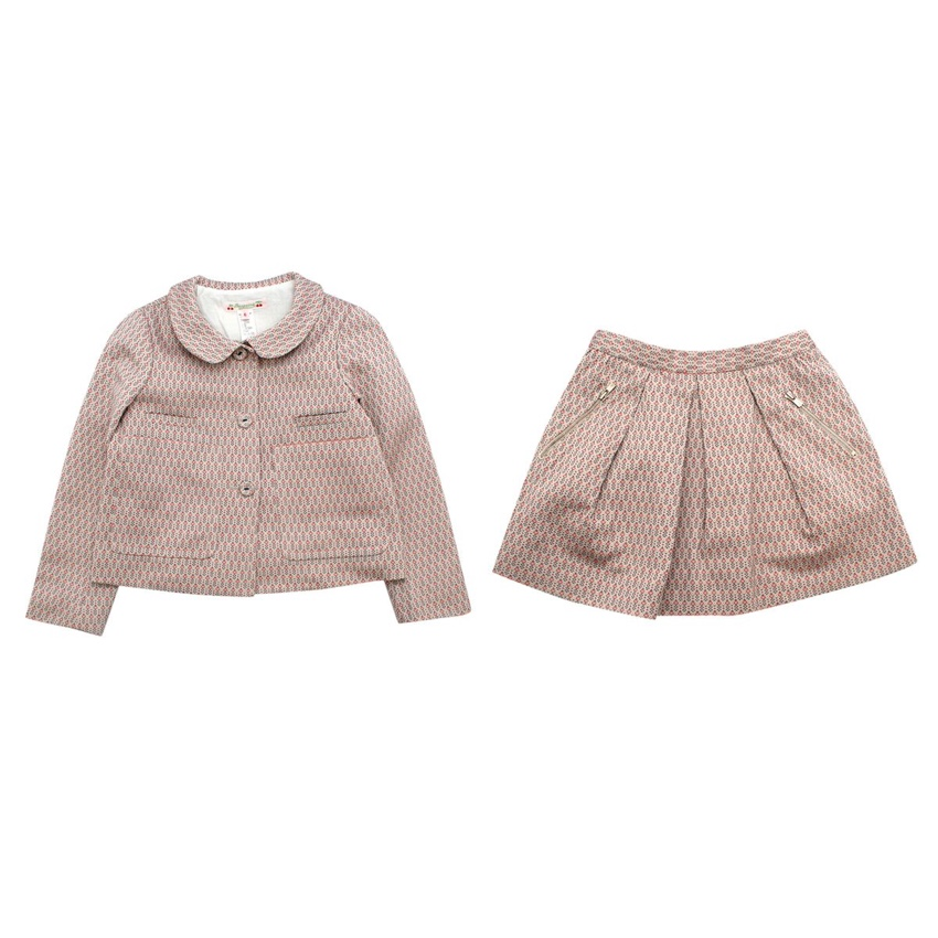 Bonpoint Kids 6Y Patterned Skirt & Jacket