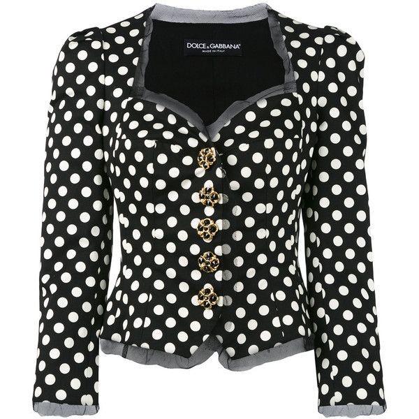 Dolce & Gabbana Structured Polka Dot Jacket