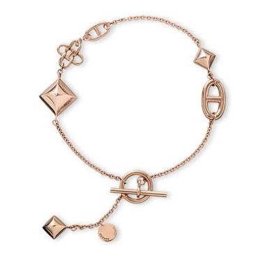 Hermes Ronde 18ct Rose Gold Multi Bracelet
