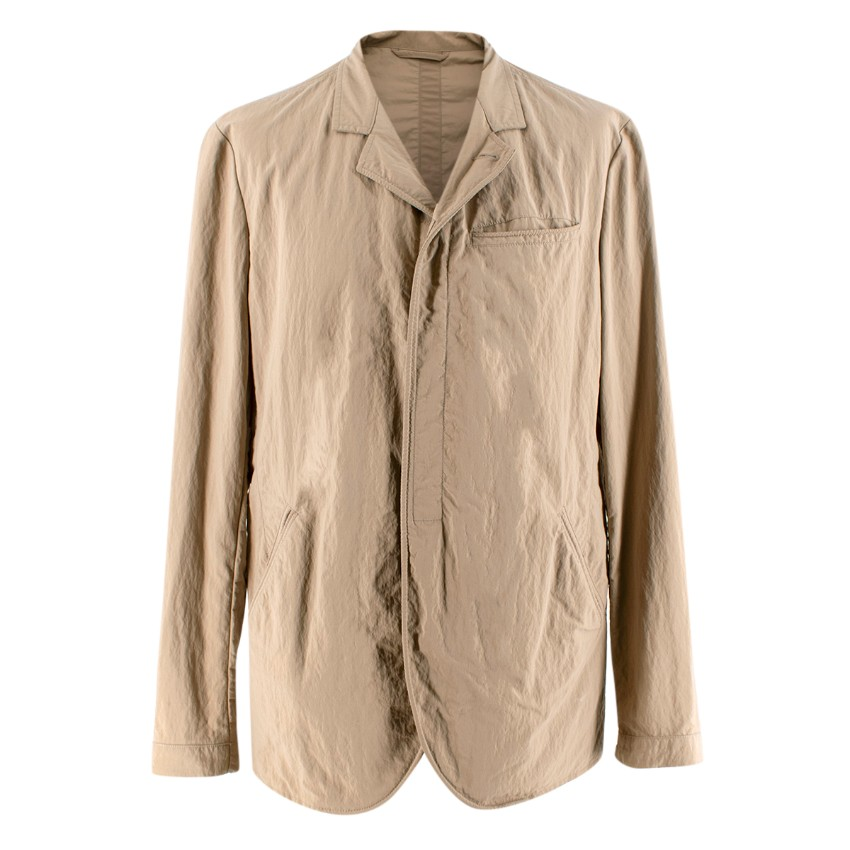 Armani Collezioni Beige Nylon Lightweight Jacket