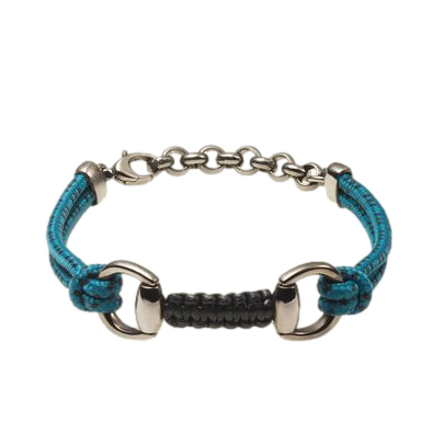 Gucci Blue Cord Bracelet with Horsebit