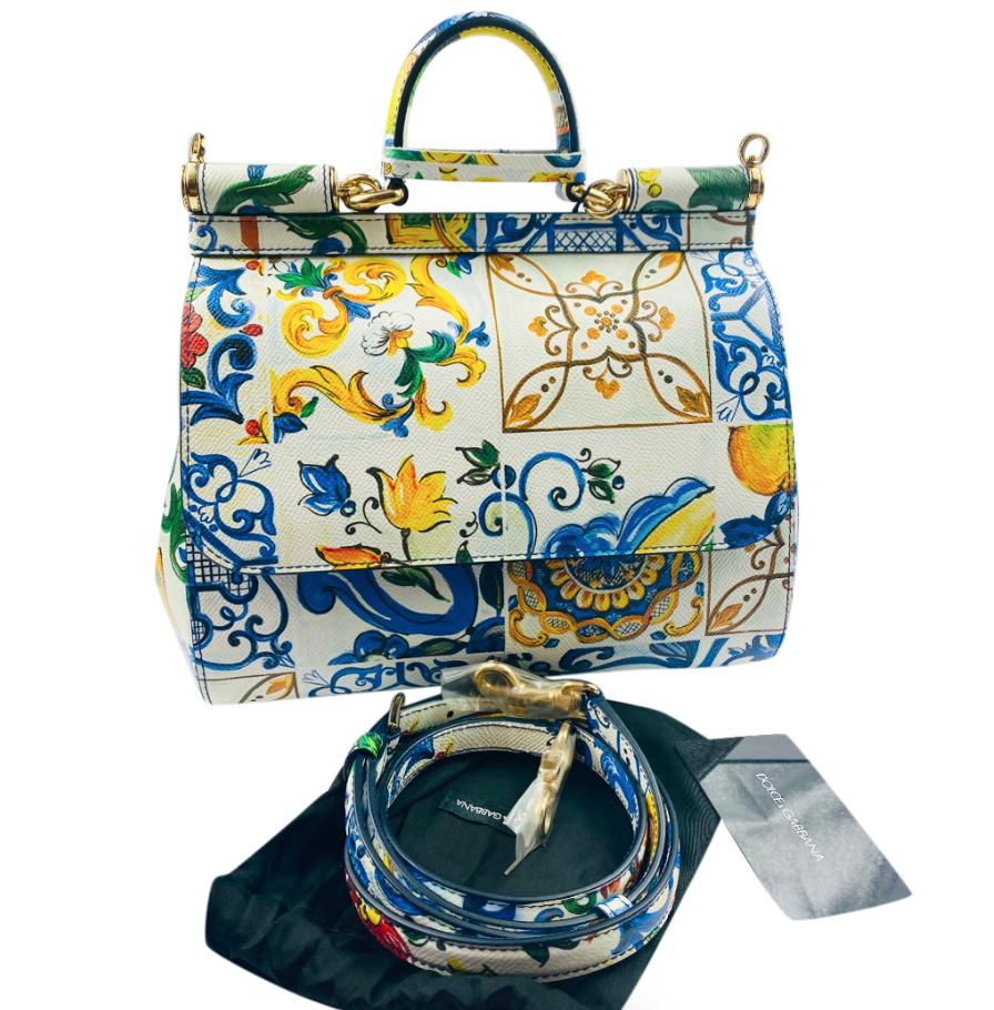 Dolce & Gabbana Sicily Majolica Print Sicily Bag