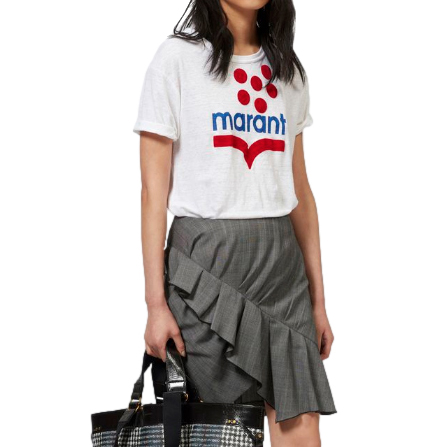 Isabel Marant �toile Koldi logo-print linen T-shirt