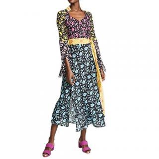 Rixo Multicoloured Priscilla Printed Midi Dress