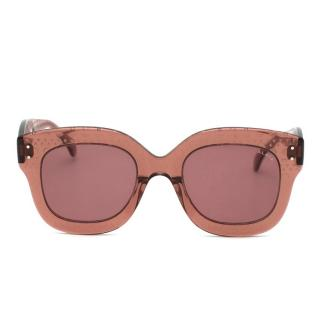 Alaia Brown Translucent Oversized Sunglasses