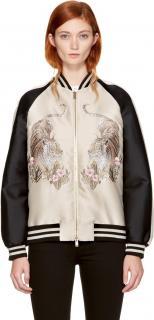 Stella McCartney Satin Lorinda Tiger-embroidered Jacket