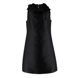 Lanvin Black Ruffled Cocktail Dress