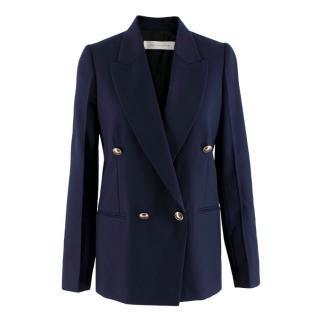 Victoria Beckham Double Breasted Navy Blazer