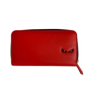Fendi Monster Eyes Red Zip-Around Wallet