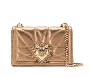 Dolce & Gabbana Gold Devotion Shoulder Bag